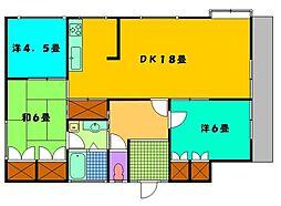 古川コーポ[301号室]の間取り