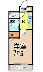 愛知県名古屋市熱田区大宝4丁目の賃貸マンションの間取り