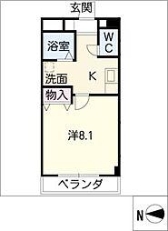 愛知県愛知郡東郷町大字和合字知々釜の賃貸マンションの間取り