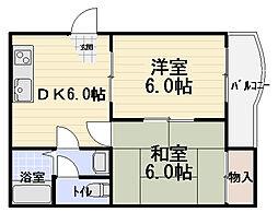 エトワルK[4階]の間取り