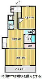 愛知県名古屋市千種区覚王山通8丁目の賃貸マンションの間取り