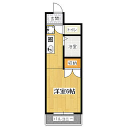 ブリックフォート アシハラ[3階]の間取り