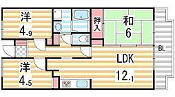 Green Villa Goryo[106号室]の間取り