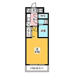 ピュアドームパラジオ博多[3階]の間取り