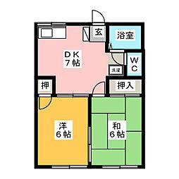 アメニティーハウスA[1階]の間取り