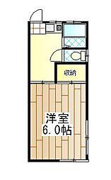 神奈川県伊勢原市伊勢原2丁目の賃貸アパートの間取り
