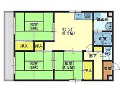 清川第6ビル[203号室]の間取り