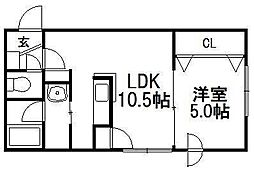 エスポアール前田[103号室]の間取り