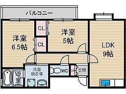 メゾンボーノボーノ[5階]の間取り