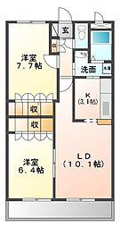 サウス23[1階]の間取り