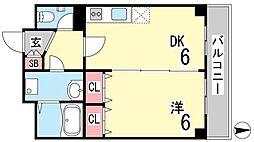田中ハウス[1階]の間取り
