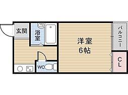 シャトレ小坂[205号室]の間取り