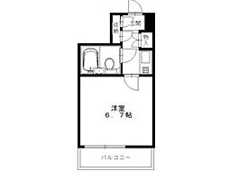 JUN平山城[5階]の間取り