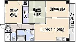 ハイタウン堀田[7階]の間取り