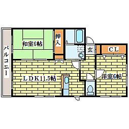 レジデンスセト[2階]の間取り