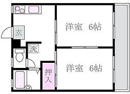 メゾン松庵[1階]の間取り