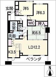 サンマンションアトレ桑名502[5階]の間取り