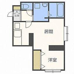 ブルースカイ札幌中央[1階]の間取り