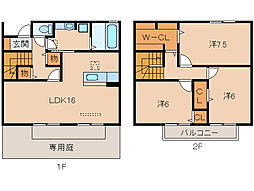 和歌山県和歌山市東高松2丁目の賃貸アパートの間取り