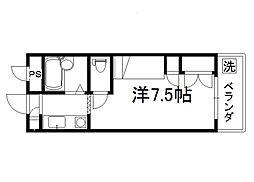 セレーネ田辺3A[510号室]の間取り