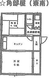 阪本ハイツ[201号室]の間取り