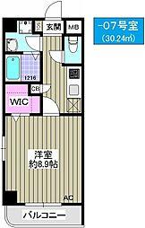 TOCCHI 1番館[607号室]の間取り