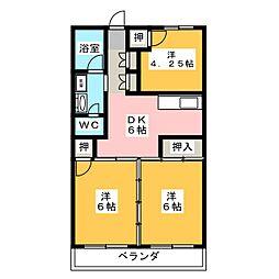 本郷第1コーポ[4階]の間取り