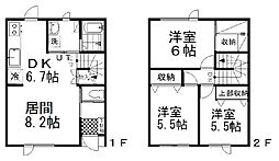 LEON−II(玲音−II) 1階3LDKの間取り