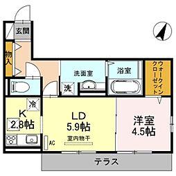 マリーズメゾン黒田[2階]の間取り