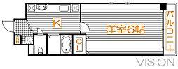 スパシエルクス大宮[8階]の間取り