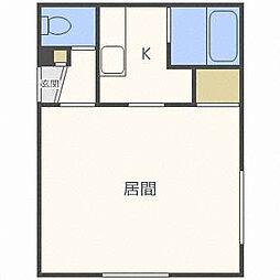 アーバンクラスタ東札幌[4階]の間取り