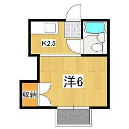 ヴィラ粟田口[2階]の間取り