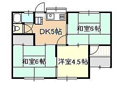 [一戸建] 岡山県岡山市北区平野 の賃貸【/】の間取り