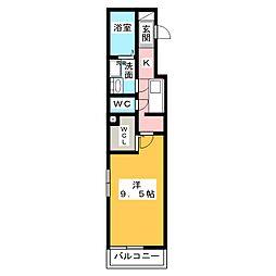 アザレアコート[1階]の間取り