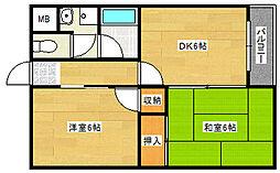 河波マンション[2階]の間取り