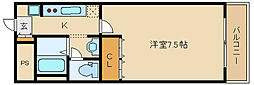 大阪府藤井寺市船橋町の賃貸マンションの間取り