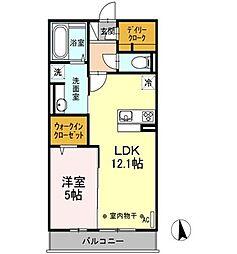 ホームインプラス[2階]の間取り