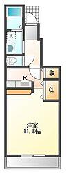JR山陽本線 瀬戸駅 徒歩33分の賃貸アパート 1階1Kの間取り