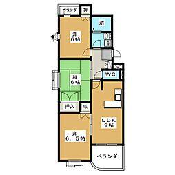 ベルパークB[2階]の間取り