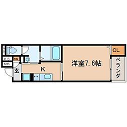 JR東海道本線 静岡駅 徒歩13分の賃貸マンション 1階1Kの間取り
