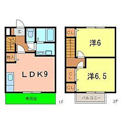 [テラスハウス] 愛知県刈谷市八幡町7丁目 の賃貸【/】の間取り