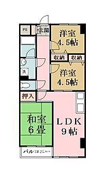 ホワイトタウン松原[6階]の間取り