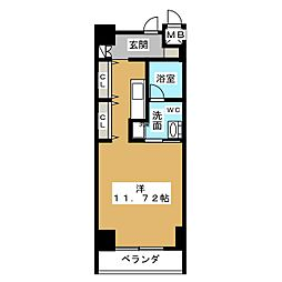 N.S.ZEAL泉[8階]の間取り
