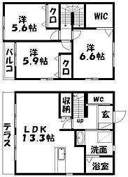[テラスハウス] 静岡県浜松市西区志都呂2丁目 の賃貸【静岡県 / 浜松市西区】の間取り