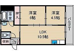 桜ヶ丘コーポ[3階]の間取り