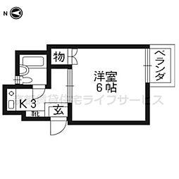 西ノ京ハイツ[302号室]の間取り