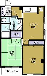ドーム1番館[2階]の間取り