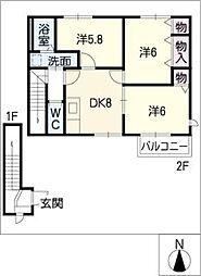 キッズタウン1[2階]の間取り