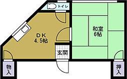 九条三伸ビル[2階]の間取り