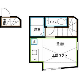 JR中央本線 西荻窪駅 徒歩10分の賃貸アパート 2階ワンルームの間取り